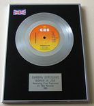 BARBRA STREISAND - WOMAN IN LOVE Platinum single presentation DISC